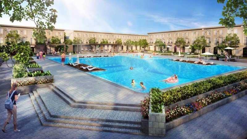 bể bơi hiện đại tại sunrise bay đà nẵng