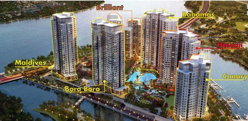 thiết kế các tòa căn hộ Diamond Island Đảo Kim Cương