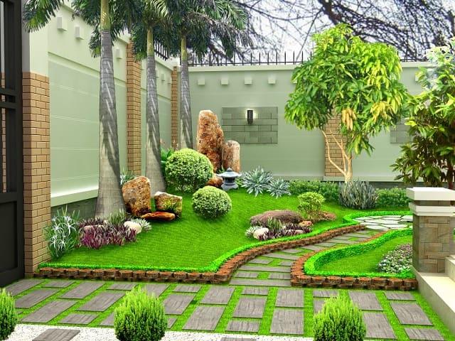 Thiết kế sân vườn không nên trồng cây lớn