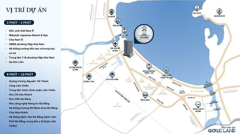 Asiana Đà Nẵng khi được bao trọn bởi hệ thống giao thông liên kết ấn tượng