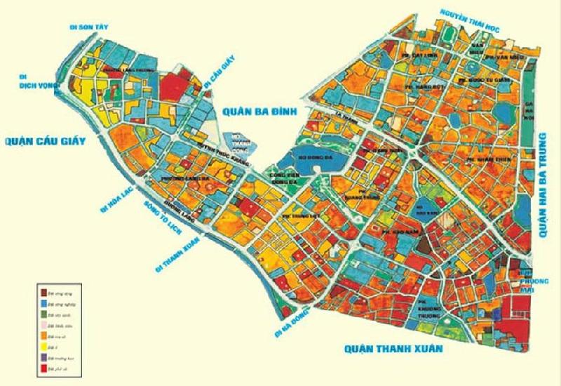 Bản đồ chi tiết quy hoạch quận Đống Đa