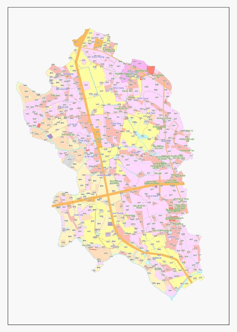 Bản đồ chi tiết thông tin quy hoạch huyện Hoài Đức