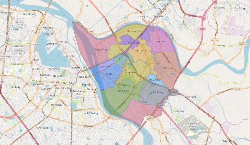 Bản đồ hành chính quận Đống Đa