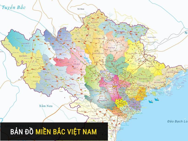 Bản đồ miền Bắc Việt Nam
