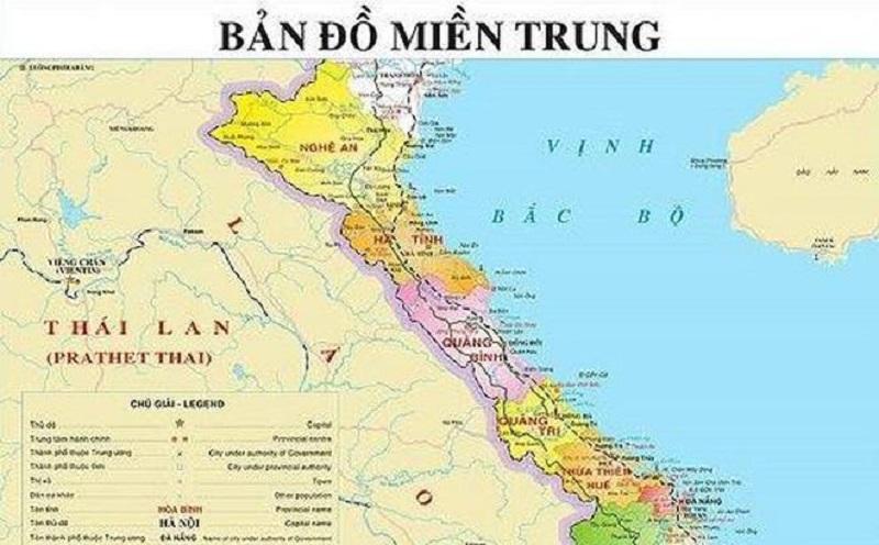 Bản đồ miền Trung- phân tích địa lý miền Trung