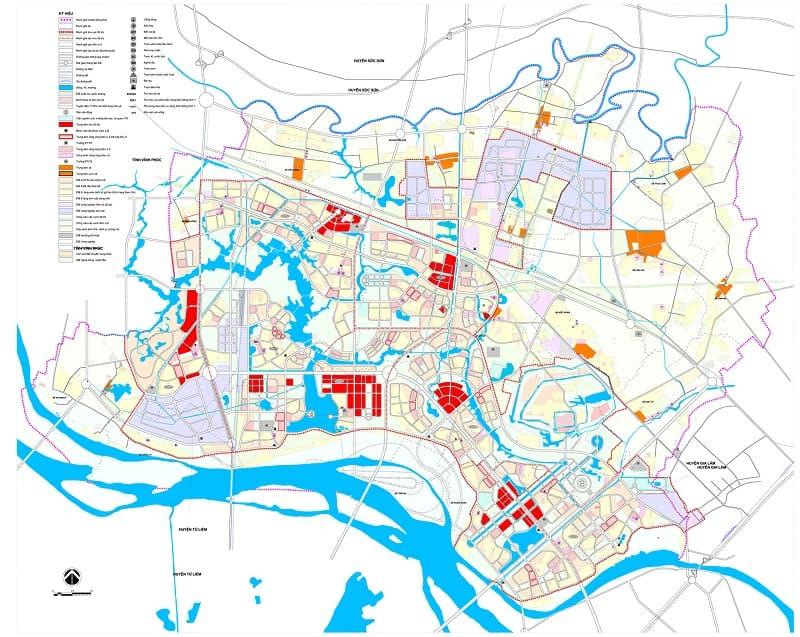 Bản đồ quy hoạch Đông Anh đến 2030, tầm nhìn 2050