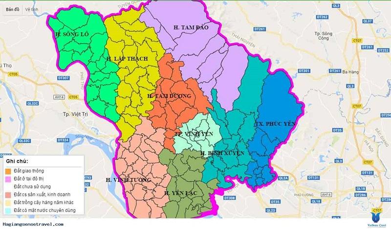 Bản đồ quy hoạch Vĩnh Phúc