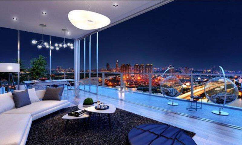Căn hộ penthouse bắt nguồn từ thiết kế tòa cao ốc ở Châu Mỹ và Châu Âu