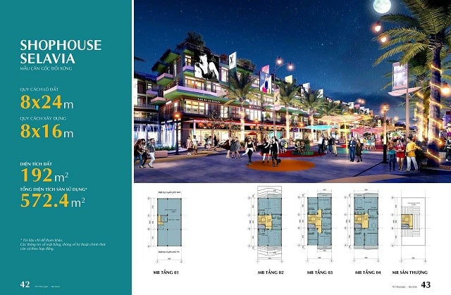 Chi tiết tầm nhìn trực diện Shophouse