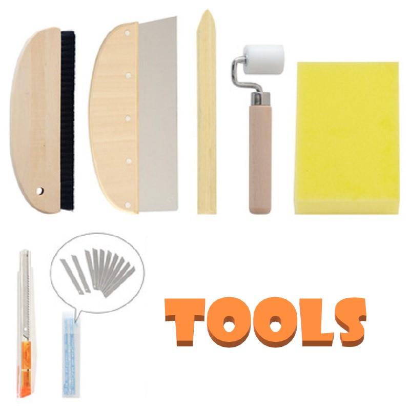 Công cụ, vật dụng hỗ trợ việc dán giấy dán tường