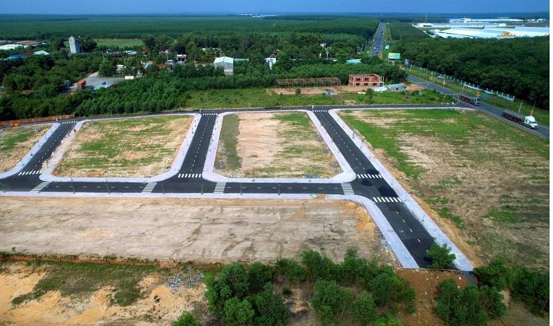 Đất dự án được phân lô