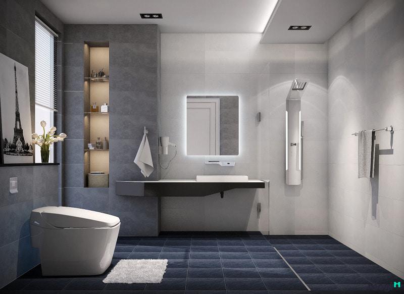 Độ dốc bồn cầu hợp lý khi đặt trong nhà vệ sinh