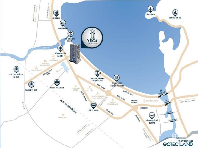 Dự án Asiana Đà Nẵng sở hữu mạng lưới liên kết khu vực chặt chẽ, thuận lợi