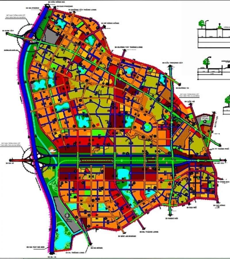 Dự án quy hoạch giao thông tại Hoài Đức