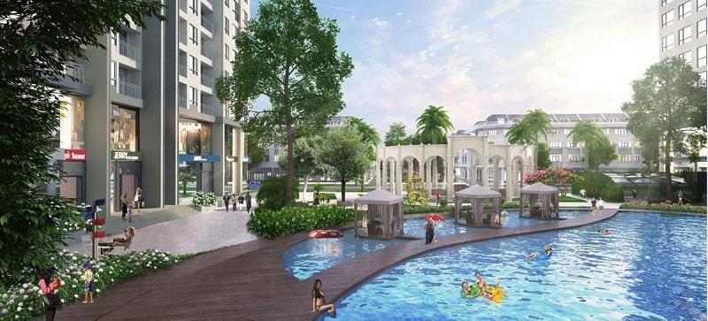 Dự án Vinhomes Cần Giờ thiết kế khu hồ bơi nghỉ dưỡng đẹp mắt