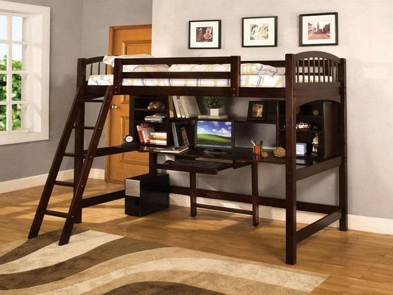 Giường ngủ kết hợp bàn học cho bé