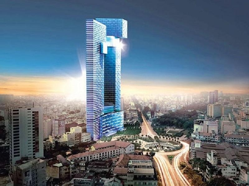 Hai tòa tháp One Central cao ngất ngưởng thu hút ánh nhìn mọi người