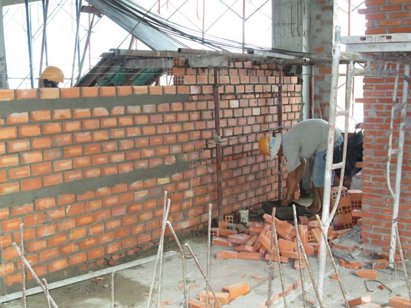 Hướng dẫn cách xây tường gạch khoa học