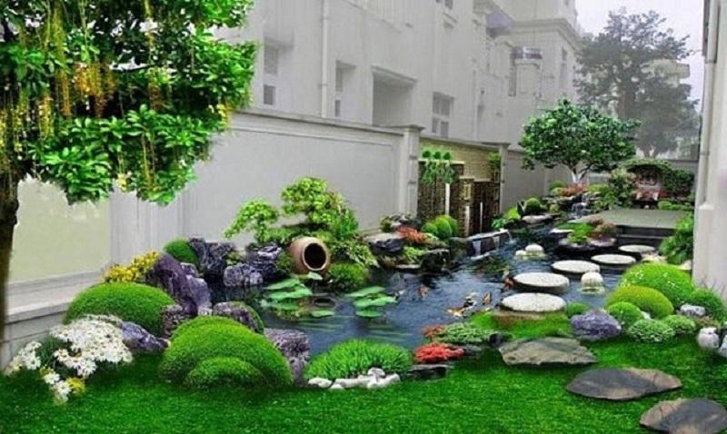 Khi thiết kế tiểu cảnh sân vườn cần lưu ý nhiều điều mới mang tới tính thẩm mỹ cao