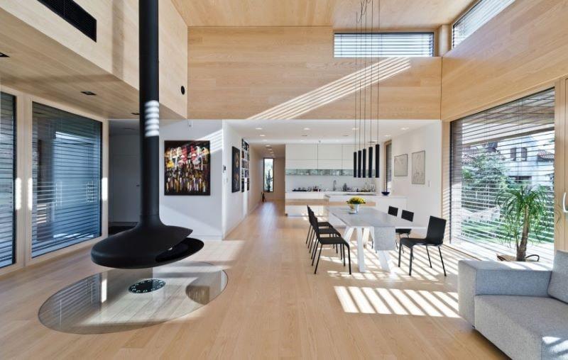 Không gian mở trong phong cách thiết kế contemporary