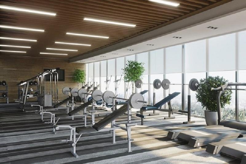 Khu phòng gym dự án One Central xây dựng với lối kiến trúc cao cấp chuẩn thượng lưu