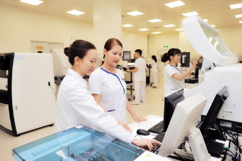 Khu vinmec đầy đủ trang thiết bị hiện đại hỗ trợ chăm sóc sức khỏe