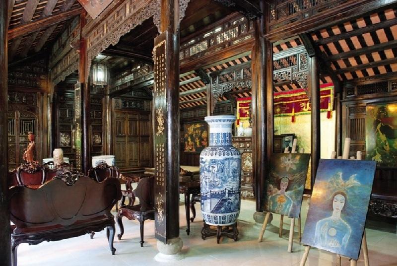 Kiến trúc bên trong nhà rường Huế