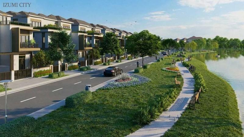 Kiến trúc biệt thự ven sông dự án với tầm view ấn tượng dễ dàng chinh phục khách hàng