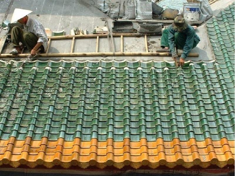 Kỹ thuật lợp ngói âm dương  trên mái bê tông