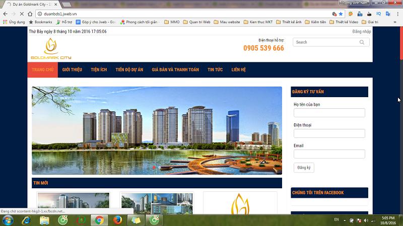 Lập website rao bán bất động sản