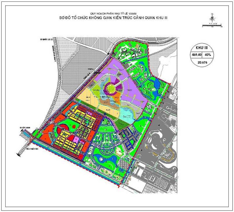 Mặt bằng chi tiết phân khu III dự án Vinhome Hóc Môn