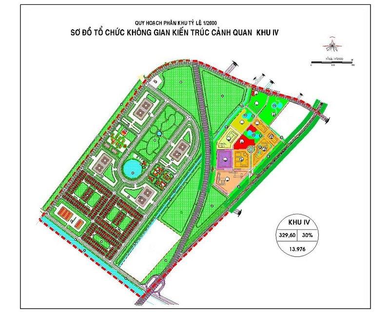 Mặt bằng chi tiết phân khu IV dự án Vinhome Hóc Môn