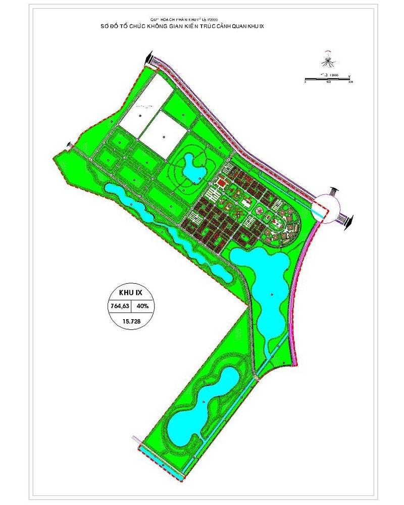 Mặt bằng chi tiết phân khu IX dự án Vinhome Hóc Môn