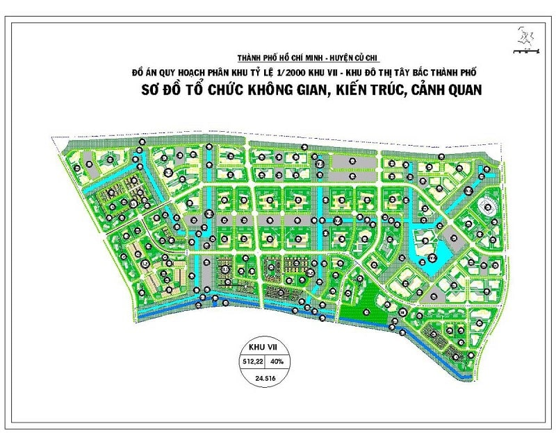 Mặt bằng chi tiết phân khu VII dự án Vinhome Hóc Môn