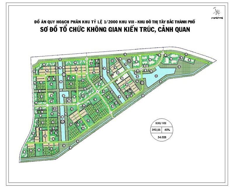 Mặt bằng chi tiết phân khu VIII dự án Vinhome Hóc Môn