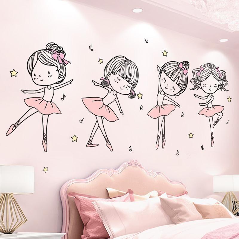 Mẫu giấy dán tường phòng ngủ trẻ em dành cho bé gái 1