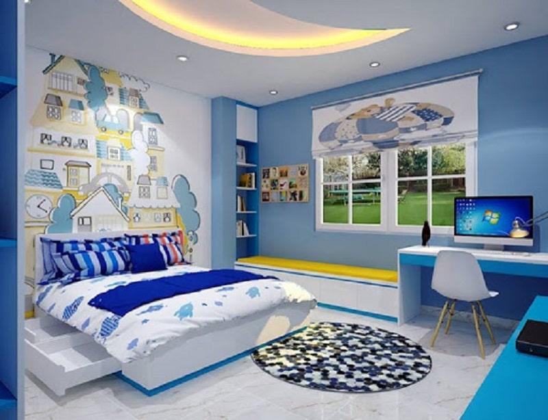 Mẫu giấy dán tường phòng ngủ trẻ em dành cho bé trai 1