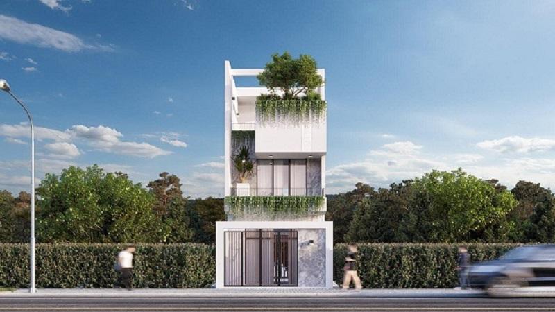 Mẫu nhà đẹp 3 tầng 6x12m với phong cách hiện đại