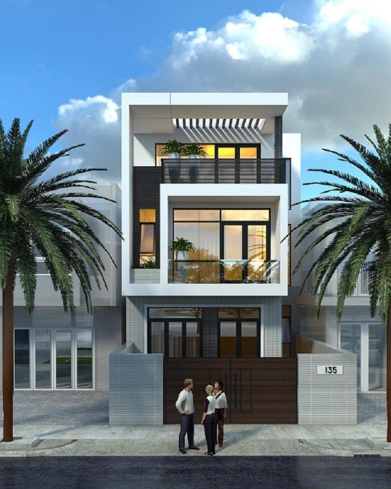Mẫu nhà thiết kế 3 tầng đẹp 5x18m