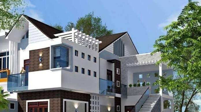 Mẫu thiết kế cầu thang ngoài trời dành cho nhà phố