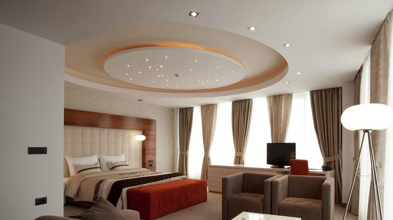 Mẫu trần thạch cao cho phòng ngủ sang trọng