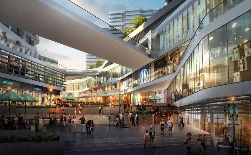 Mô phỏng vẻ ngoài của trung tâm thương mại KĐT Vinhomes Hóc Môn