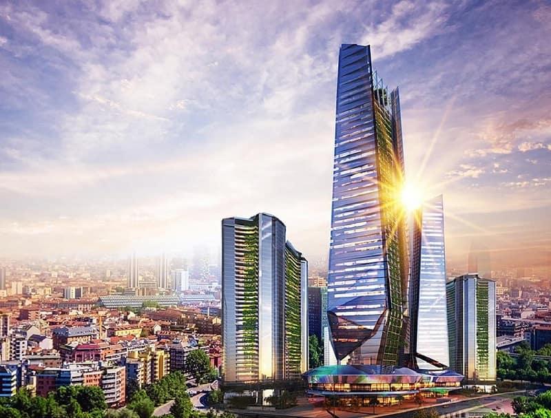 Một trong những tòa nhà cao tầng của Sunshine