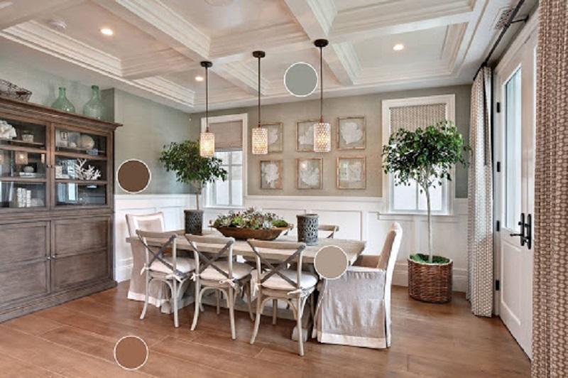 Nhà bếp được trang trí theo phong cách thô mộc