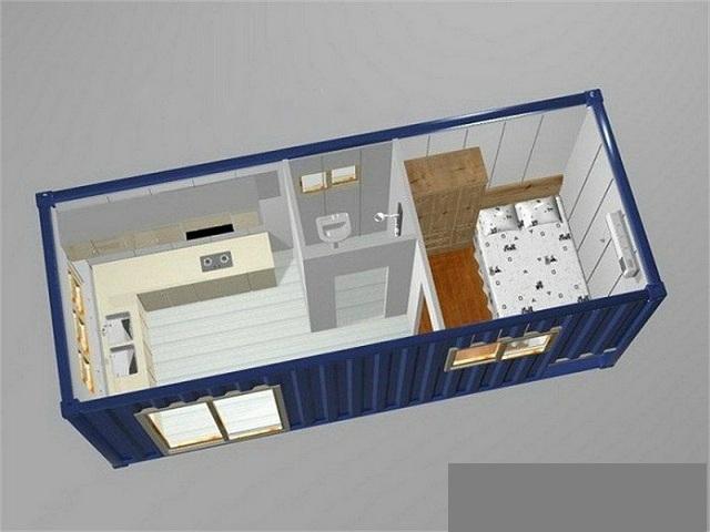 Nhà được làm từ hệ thống thùng Container đã qua sử dụng