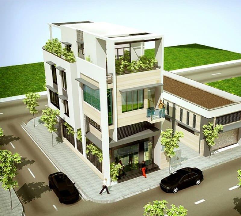 Nhà mặt tiền 3 tầng có diện tích 60m2