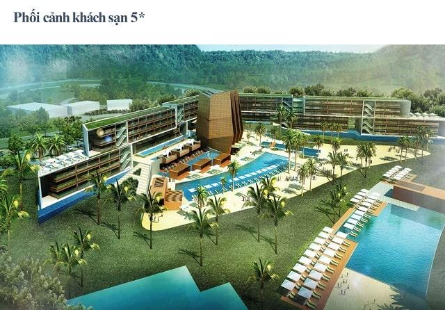 Phối cảnh khu khách sạn 5 sao dự án