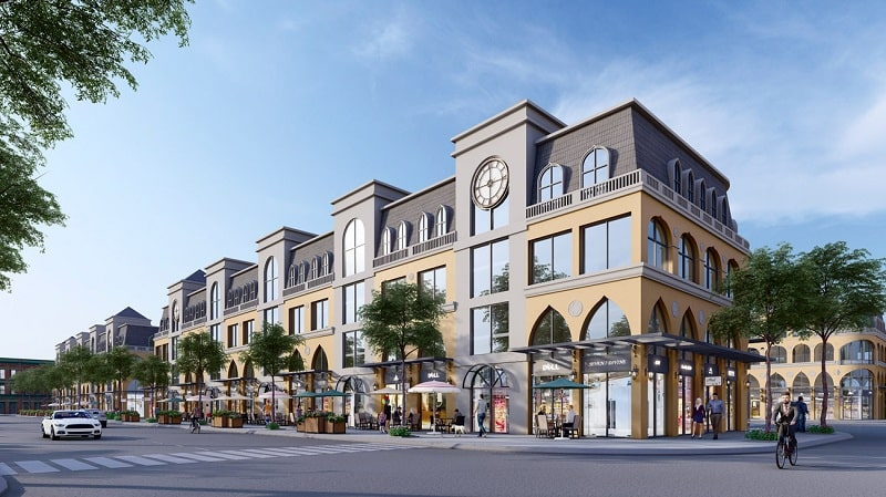 Phối cảnh thiết kế Boulevard Shophouse dự án