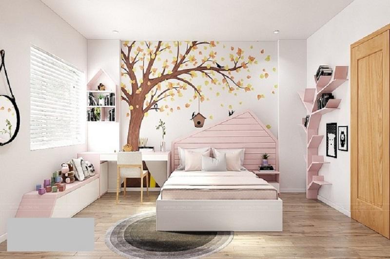 Phòng ngủ đẹp, rộng rãi với nội thất thông minh