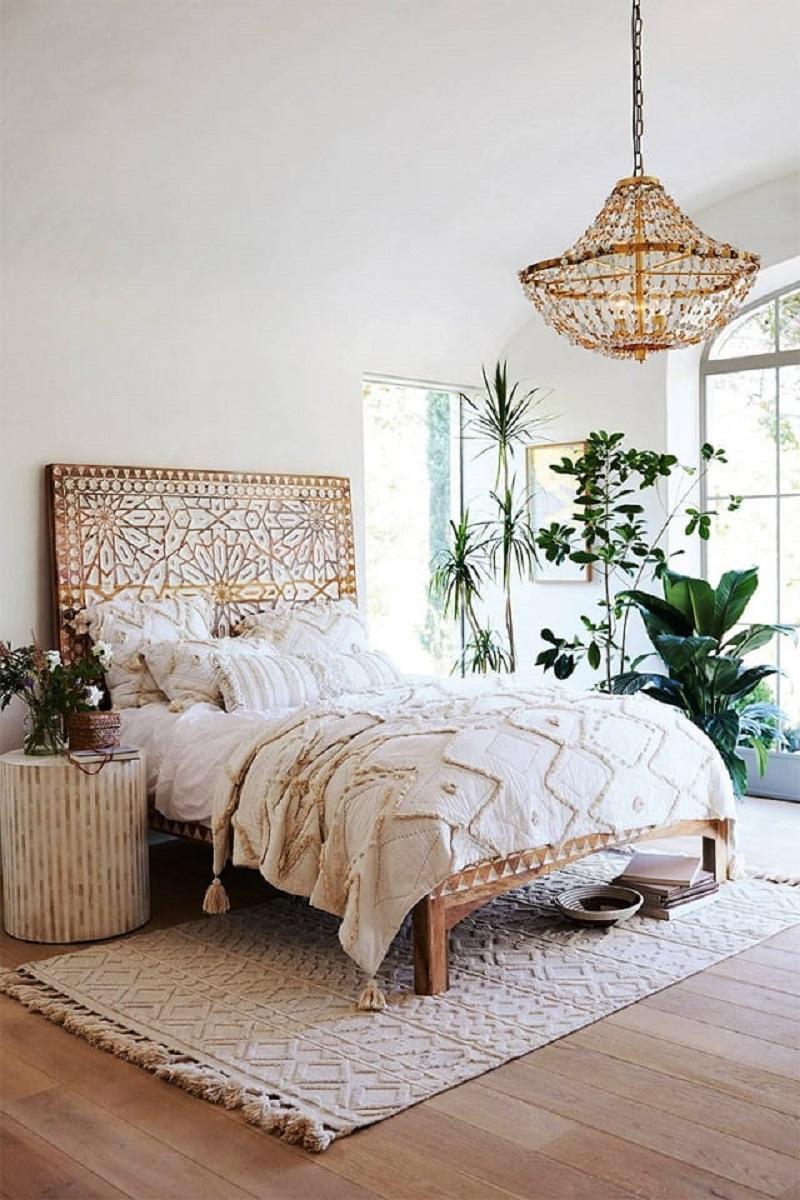 Phòng ngủ ngập không gian xanh